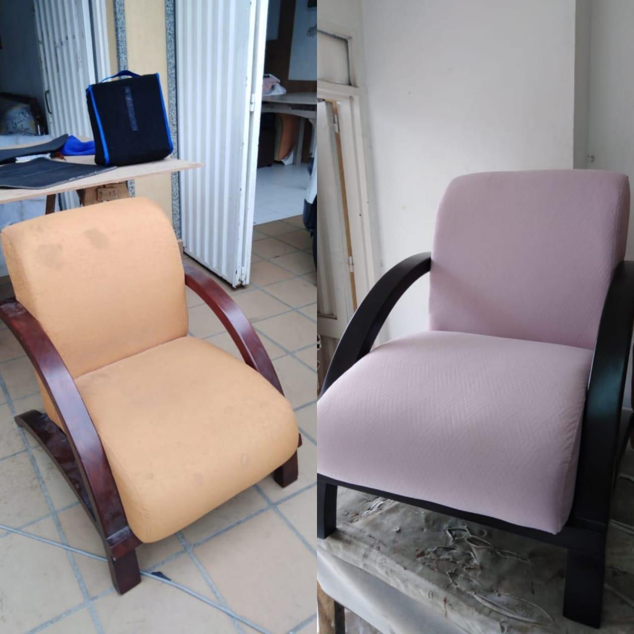 cambio de tela a sillon en cali